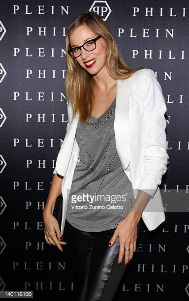 Nora Mogalle attends Philipp Plein fashion show as part of Milan Womenswear Fashion Week on February 25 2012 in Milan Italy