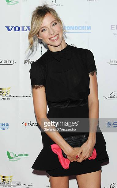 Nora Mogalle attends 'Premio Gentleman San Siro' held at Marriott Hotel on May 16 2011 in Milan Italy