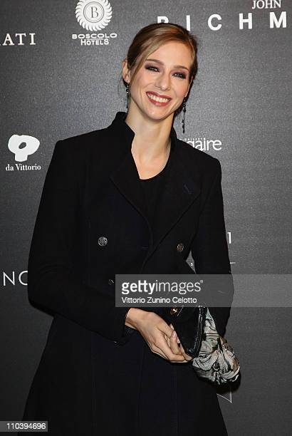 Nora Mogalle attends the Fundaction Privada Samuel Eto'o Charity Event Red Carpet on March 17 2011 in Milan Italy