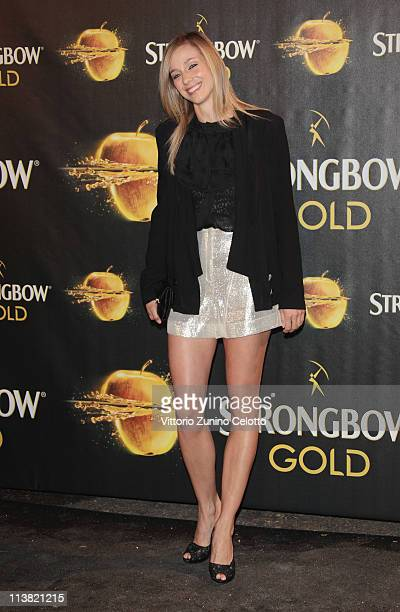 Nora Mogalle attends 'The Gold Experience' red carpet on May 6 2011 in Milan Italy