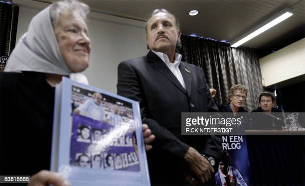 Nora Morales de Cortinas spokes woman of the �Mothers of the Plaza de Mayo� Argetinian former football player Leopold Luque Dutch journalists Marcel...