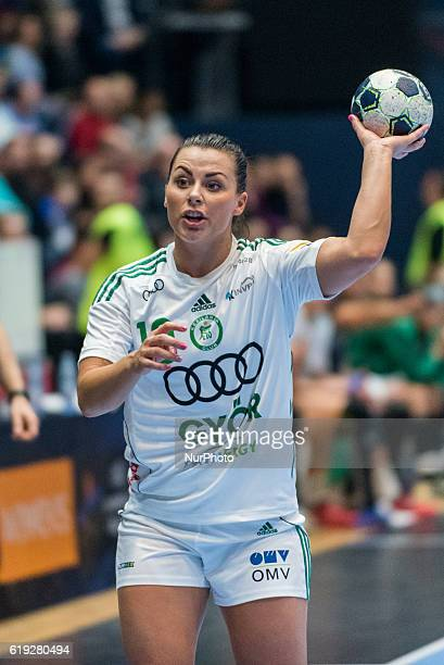 Nora Mork of Gyori Audi ETO KC during the EHF Women's Champions League 20162017 game between FC CSM Bucharest ROU and Gyori Audi ETO KC at Polyvalent...