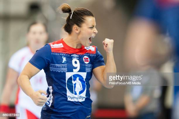 Nora Mork of Norway during IHF Women's Handball World Championship match between Norway and Poland on December 05 2017 in BietigheimBissingen Germany