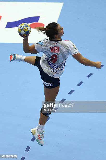 Nora Mork of Norway during the Women's EHF 2016 Euro 2016 game between national teams of Norway and Russia at Helsingborg Arena Helsingborg Sweden on...