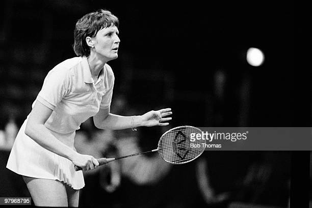 Nora Perry of England during the All England Badminton Championships held at Wembley Arena during April 1985