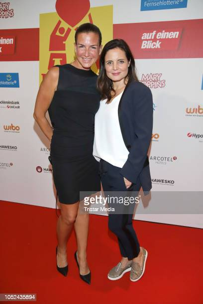 Nora Rosenblat and Elisabeth Lanz attend the 'Helden des Alltags' gala at Theater Kehrwieder on October 17, 2018 in Hamburg, Germany.