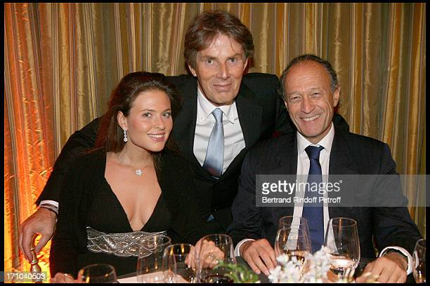 Nora Sabrier Dominique Desseigne Thierry Gaubert at The Gala Evening In Aid Of La Maison De Solenn At The Theatre Marigny Followed By A Dinner At...