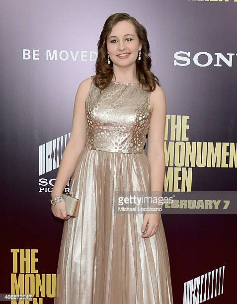 Nora Sagal attends 'The Monuments Men' premiere at Ziegfeld Theater on February 4 2014 in New York City New York