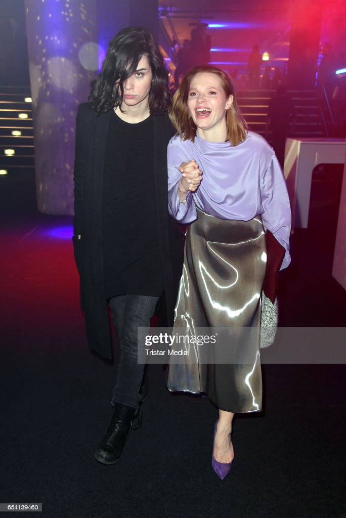 Nora Tschirner and Karoline Herfurth attend the After Party of the premiere of the Amazon series 'You are wanted' at CineStar on March 15, 2017 in Berlin, Germany.