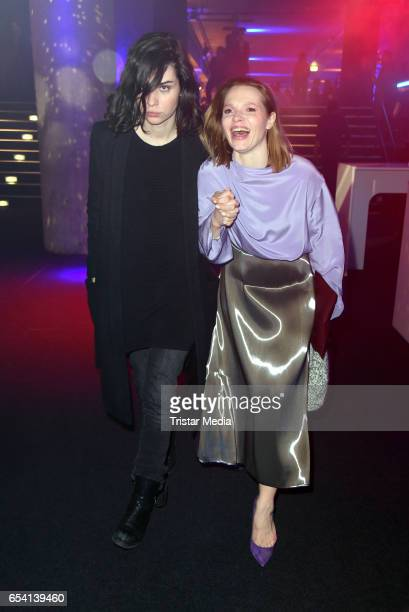 Nora Tschirner and Karoline Herfurth attend the After Party of the premiere of the Amazon series 'You are wanted' at CineStar on March 15 2017 in...
