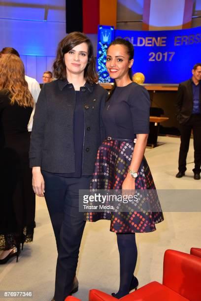 Nora Tschirner and Sawsan Chebli attend the Goldene Erbse Award 2017 on November 20 2017 in Berlin Germany