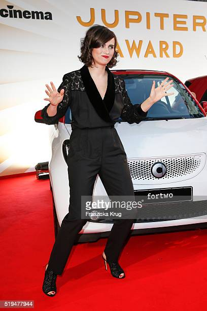 Nora Tschirner and smart attend the Jupiter Award 2016 on April 06 2016 in Berlin Germany