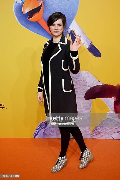 Nora Tschirner attends 'Free Birds' Premiere at Kino in der Kulturbrauerei on February 3 2014 in Berlin Germany