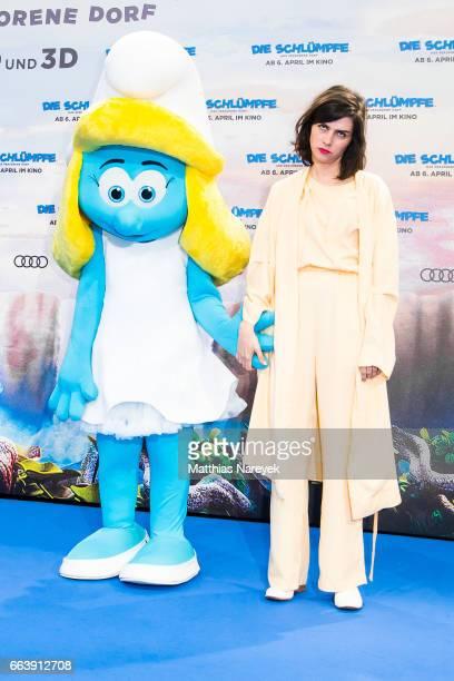 Nora Tschirner attends the 'Die Schluempfe Das verlorene Dorf' Berlin Premiere at Sony Centre on April 2 2017 in Berlin Germany