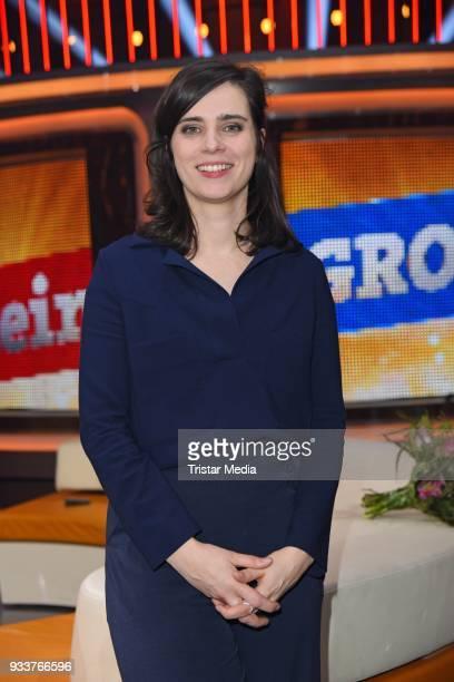 Nora Tschirner during the TV show 'Klein gegen Gross' on March 18 2018 in Berlin Germany