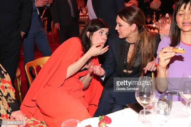 Nora Tschirner makes fun with Carolin Kebekus during the ROMY award at Hofburg Vienna on April 13 2019 in Vienna Austria