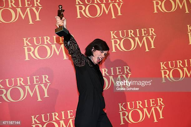 Nora Tschirner with award during the 26th ROMY Award 2015 at Hofburg Vienna on April 25 2015 in Vienna Austria