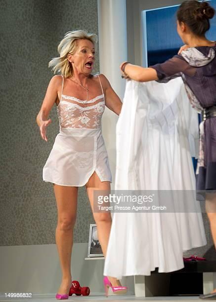 Nora von Collande attend the photo rehearsal of the stage play 'Das Zweite Kapitel' at the Komoedie am Kurfuerstendamm on August 8 2012 in Berlin...
