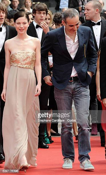 Nora Von Waldstaett and Olivier Assayas attend the 'Carlos' Premiere during the 63rd Cannes International Film Festival