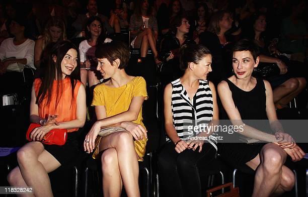 Nora von Waldstaetten Julia Koschitz Hannah Herzsprung and Christiane Paul sit in front row at the Strenesse Blue Show during MercedesBenz Fashion...