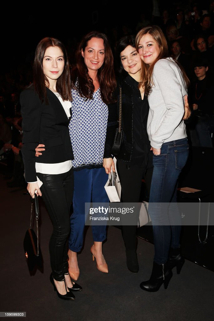 Nora von Waldstaetten, Natalia Woerner, Jasmin Tabatabai and Alexandra Maria Lara attend Schumacher Autumn/Winter 2013/14 Fashion Show during Mercedes-Benz Fashion Week Berlin at Brandenburg Gate on January 17, 2013 in Berlin, Germany. on January 17, 2013 in Berlin, Germany.