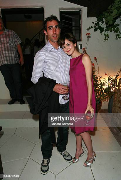 Nora Zehetner and guest during Teen Vogue's Amy Astley Dinner at Private Home in Los Angeles California United States