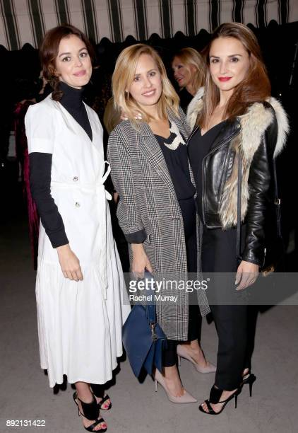 Nora Zehetner Lindsey Dupuis and Rachael Leigh Cook attend the Olgana Paris cocktail party at the Chateau Marmont on December 13 2017 in Los Angeles...