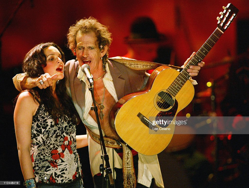 Norah Jones and Keith Richards during Return To Sin City: A Tribute to Gram Parsons - July 10, 2004 at Universal Amphitheatre in Universal City, California, United States.