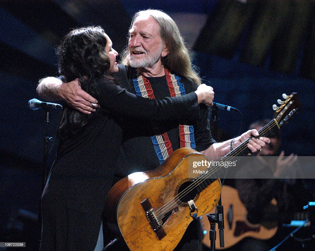 Norah Jones and Willie Nelson during 'Willie Nelson and Friends: Live and Kickin'' Premieres on USA Network May 26, 2003 - Show at Beacon Theatre in New York City, New York, United States.