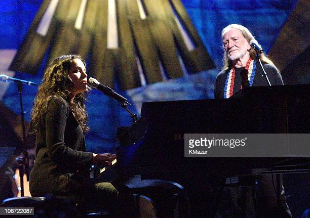 """Norah Jones and Willie Nelson during """"Willie Nelson and Friends: Live and Kickin'"""" Premieres on USA Network May 26, 2003 - Show at Beacon Theatre in..."""