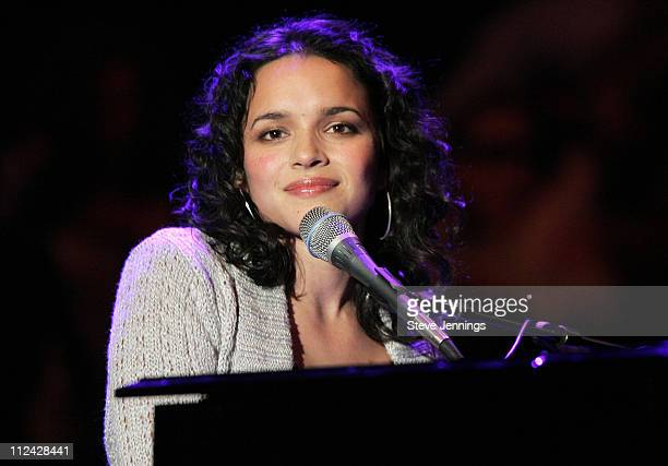Norah Jones during 19th Annual Bridge School Benefit Concert Day One at Shoreline Amphitheatre in Mountain View California United States