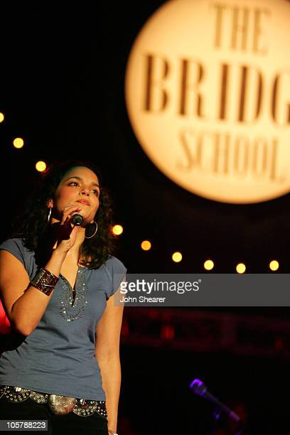 Norah Jones during 19th Annual Bridge School Benefit Concert Day Two at Shoreline Amphitheatre in Mountain View California United States
