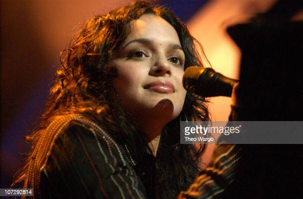 Norah Jones during MTV and VH1 Present 100% NYC A Concert Celebrating The Tribeca Film Festival Show at Battery Park City in New York City New York...