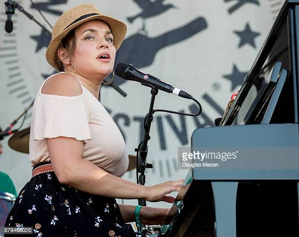 Norah Jones performs during the Newport Folk Festival at Fort Adams State Park on July 23 2016 in Newport Rhode Island