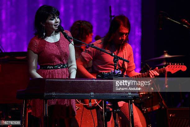 Norah Jones performs live on stage at the Star Theatre on February 27 2013 in Singapore
