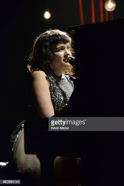 Norah Jones performs onstage at the 25th anniversary MusiCares 2015 Person Of The Year Gala honoring Bob Dylan at the Los Angeles Convention Center...
