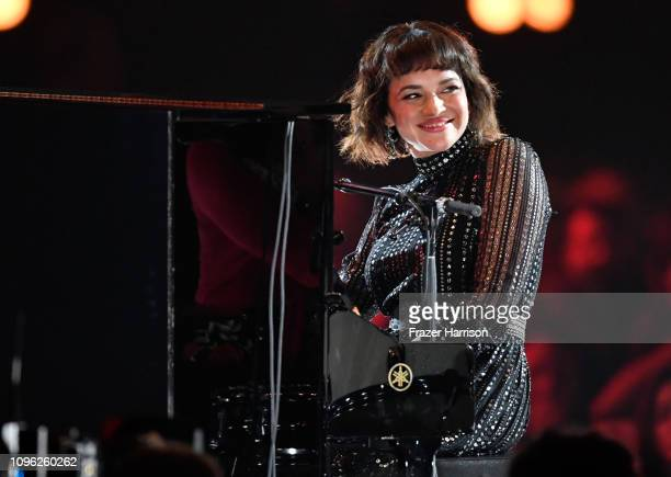 Norah Jones performs onstage during MusiCares Person of the Year honoring Dolly Parton at Los Angeles Convention Center on February 8 2019 in Los...
