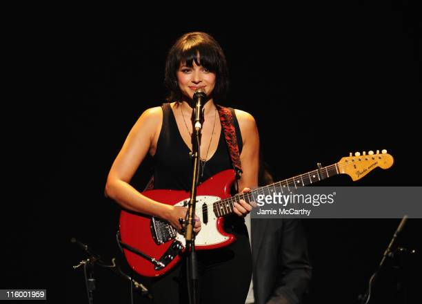 Norah Jones performs onstage during the 15th Annual Webby Awards at Hammerstein Ballroom on June 13 2011 in New York City