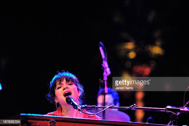 Norah Jones performs with The Little Willies at the 2013 Stagecoach Country Music Festival at The Empire Polo Club on April 26, 2013 in Indio,...