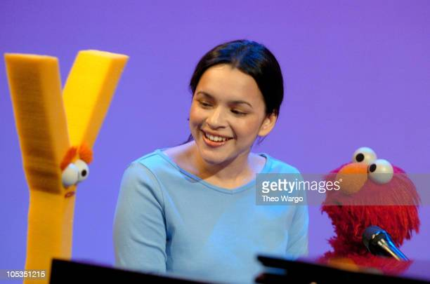 Norah Jones stopped by Sesame Street to sing about the letter 'Y' This segment will air as part of Sesame Street's 35th Season beginning on April 5...
