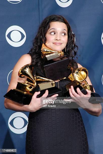 Norah Jones wins two GRAMMY's for Best Female Pop Vocal Performance and Best Pop Vocal Album