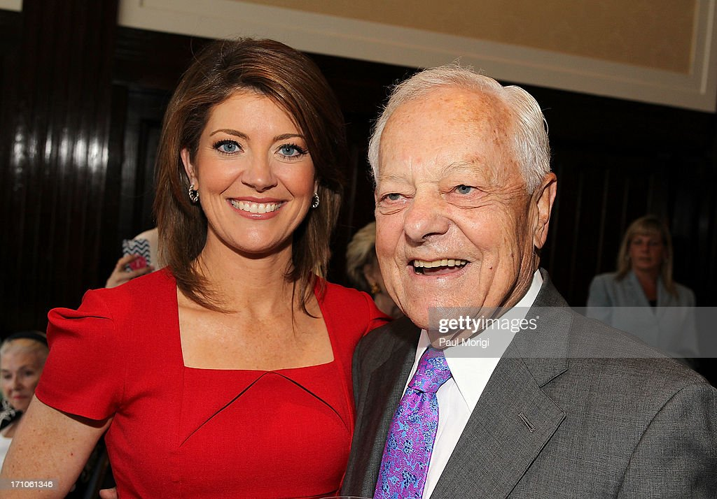 Norah O'Donnell and Bob Schieffer attend the American News Women's Club 2013 Gala Award luncheon at The National Press Club on June 21, 2013 in Washington, DC.