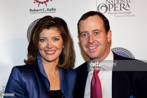 Norah O'Donnell and Geoff Tracy at the celebration to honor the Inauguration of Barack Obama at Cafe Milano on January 16, 2009 in Washington, DC.