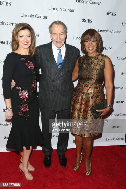 Norah O'Donnell Charlie Rose and Gayle King attend the 2017 American Songbook Gala at Alice Tully Hall on February 1 2017 in New York City