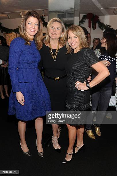 Norah O'Donnell Cynthia McFadden and Katie Couric attend The Cosmo 100 luncheon on December 7 2015 in New York City
