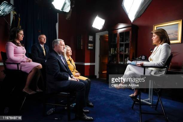 Norah O'Donnell interviews Reps Meadows, Collins, Lesko, and Stefanik on the impeachment of President Donald J. Trump in Washington D.C. On Monday,...