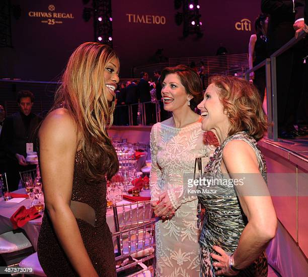 Norah O'Donnell Laverne Cox and Katie Couric attend the TIME 100 Gala TIME's 100 most influential people in the world at Jazz at Lincoln Center on...