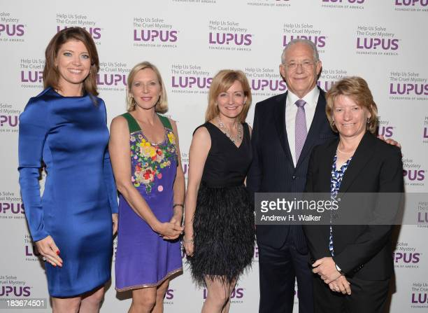 Norah O'Donnell Lee Woodruff Sue Manzi William Haseltine and Laurie Olson attend the Lupus Foundation Of America National Gala at Gotham Hall on...