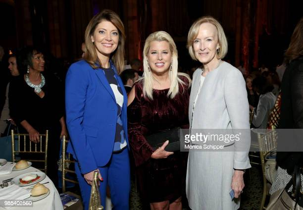 Norah O'Donnell Rita Cosby and Judy Woodruff attend The Gracies presented by the Alliance for Women in Media Foundation at Cipriani 42nd Street on...