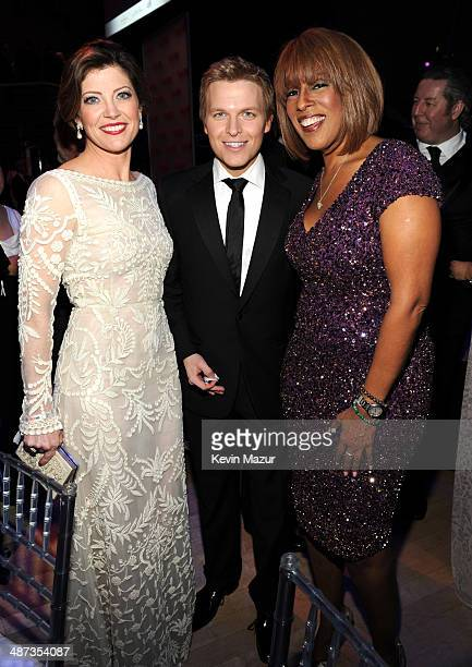 Norah O'Donnell Ronan Farrow and Gayle King attend the TIME 100 Gala TIME's 100 most influential people in the world at Jazz at Lincoln Center on...